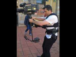 Tim on Steadicam