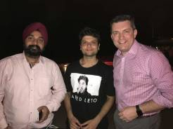 Meeting Baljeet Singh Juneja (Adobe Solutions Consultant) and Student rep Shrenik Ganatra